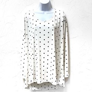 LuLaRoe long Sleeve Polkadot Tunic Top Size 3XL
